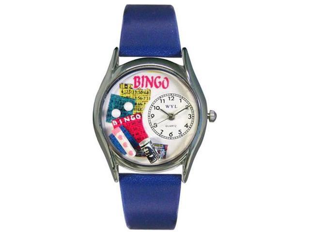 Bingo Royal Blue Leather And Silvertone Watch #S0430002
