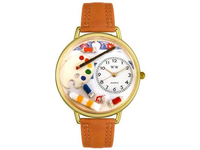 Artist Tan Leather And Goldtone Watch #G0410002
