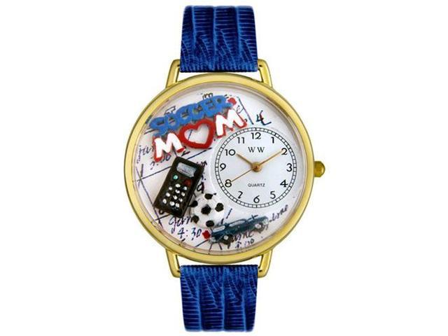 Soccer Mom Royal Blue Leather And Goldtone Watch #G1010012