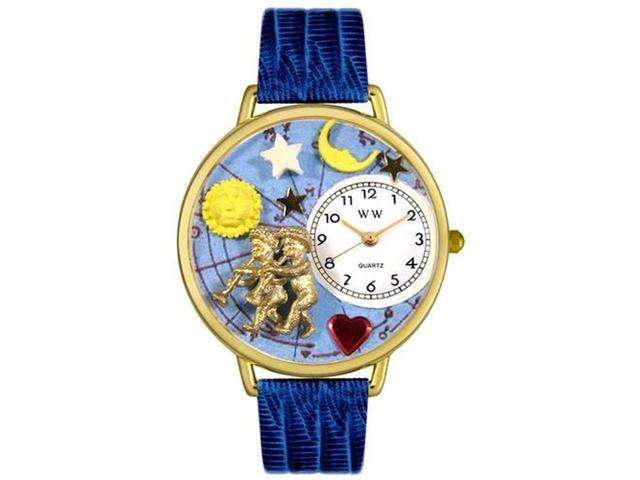Gemini Royal Blue Leather And Goldtone Watch #G1810006