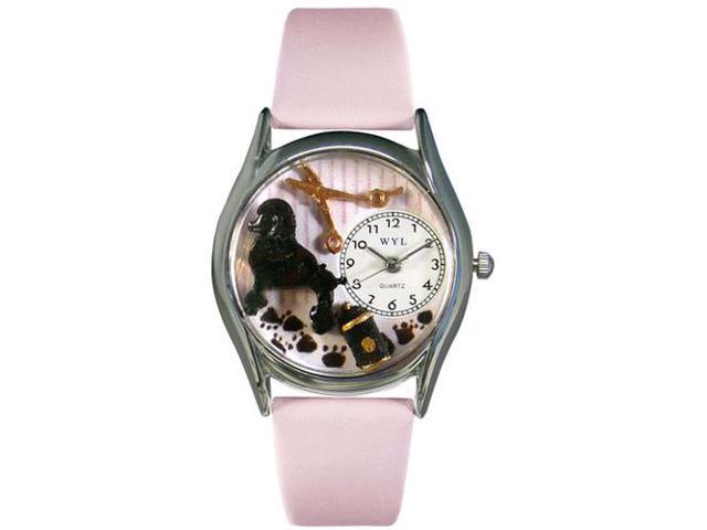 Dog Groomer Pink Leather And Silvertone Watch #S0630005