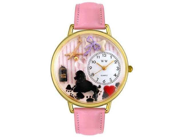 Dog Groomer Pink Leather And Goldtone Watch #G0630007