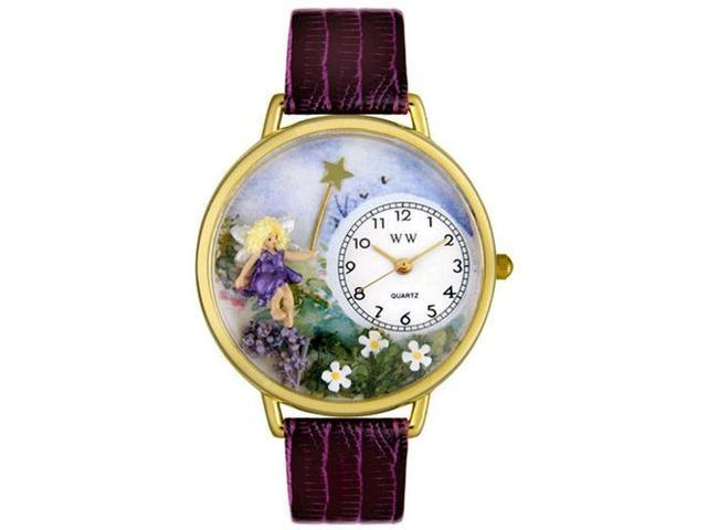 Fairy Purple Leather And Goldtone Watch #G1610001