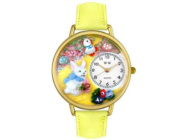Easter Bunny Yellow Leather And Goldtone Watch #G1220015