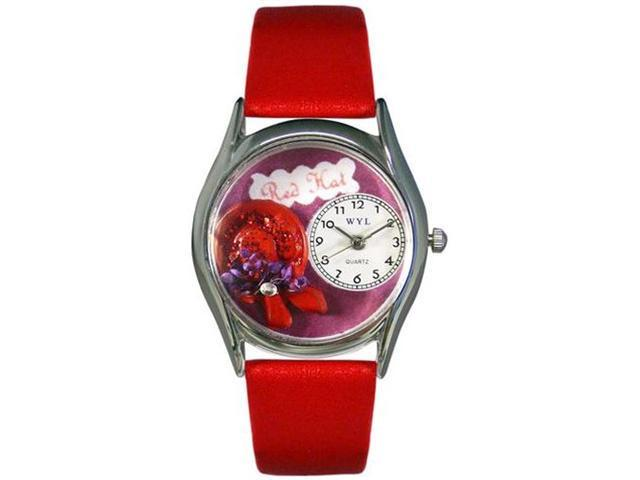 Red Hat Red Leather And Silvertone Watch #S0460001