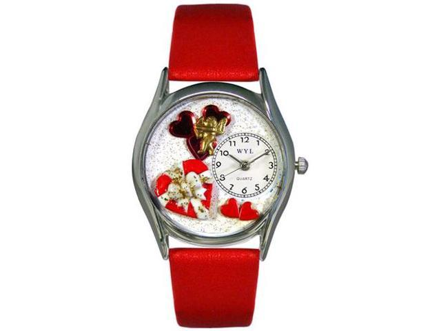 Valentine's Day Red Red Leather And Silvertone Watch #S1226001