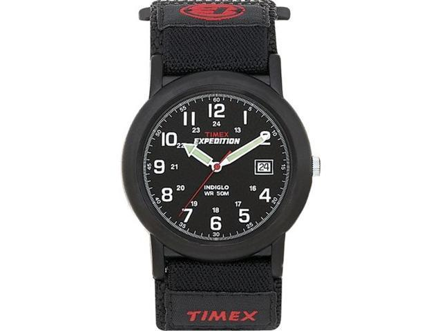 Timex Men's T40011 Black Nylon Quartz Watch with Black Dial