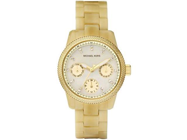 Michael Kors Horn Acetate GMT Ladies Watch MK5400