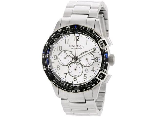 Nautica Chronograph BFC 44 Silver Dial Men's watch #N24006G
