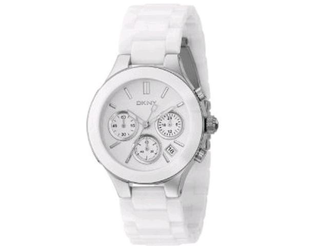 DKNY NY4912 Women's White Dial Ceramic Quartz Analog Watch
