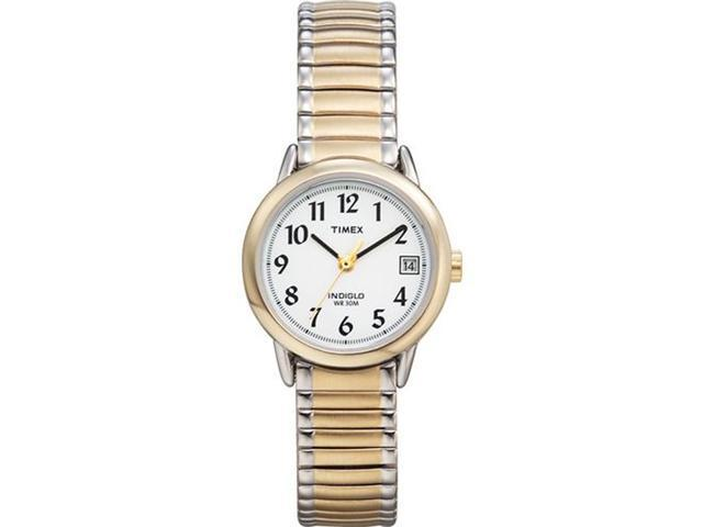 Timex Women's | Two-Tone Case & Expansion Band Date | Easy Reader Watch T2H491