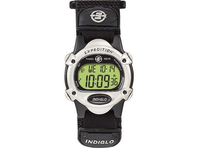 Timex Unisex T47852 Black Nylon Quartz Watch with Grey Dial