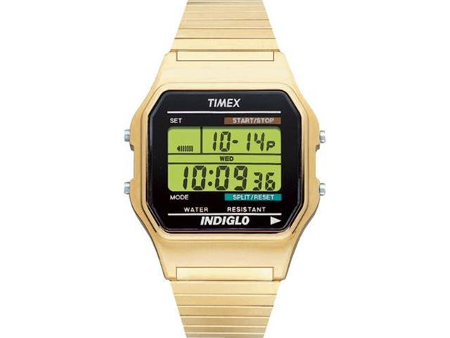Timex Digital Men's Watch - Digital Classics | Gold-Tone Case & Expansion Band