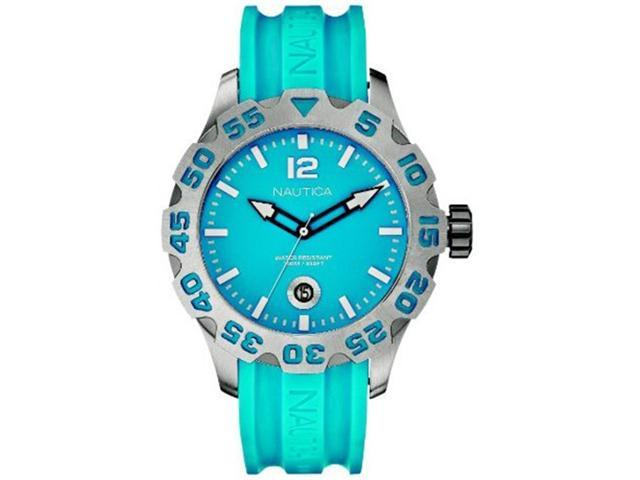 Nautica Men's N14602G Blue Resin Quartz Watch with Blue Dial