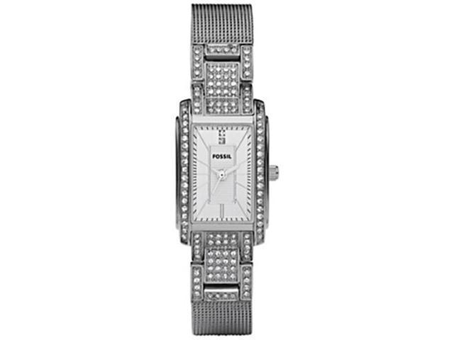 Fossil Mesh Stainless Steel Silver Dial Women's watch #ES2911