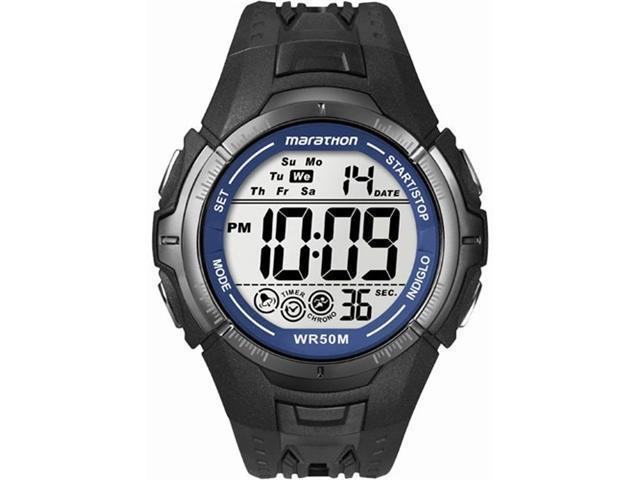 Timex Mens Marathon Black Resin Bracelet Digital Watch T5K359