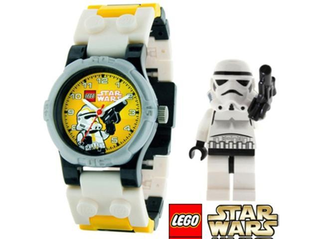 LEGO Children's LEGO Star Wars Stormtrooper 9002922 White Plastic Quartz Watch with Yellow Dial