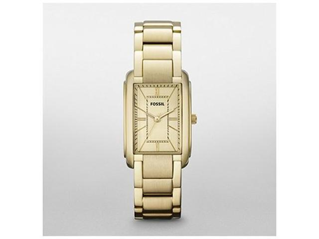 Fossil Women's ES2985 Gold Stainless-Steel Quartz Watch with Gold Dial