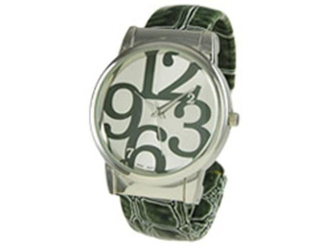 Geneva Platinum Women's 6396.DarkGreen Green Plastic Quartz Watch with White Dial