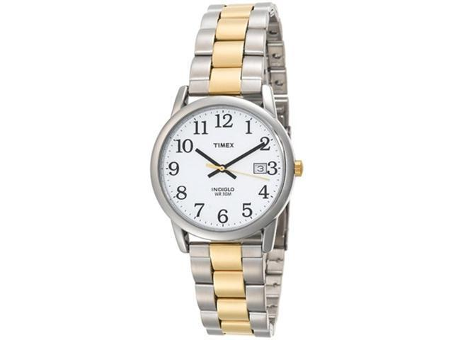 Timex Men's T2N170 Silver Two-tone Stainless-Steel Quartz Watch with White Dial