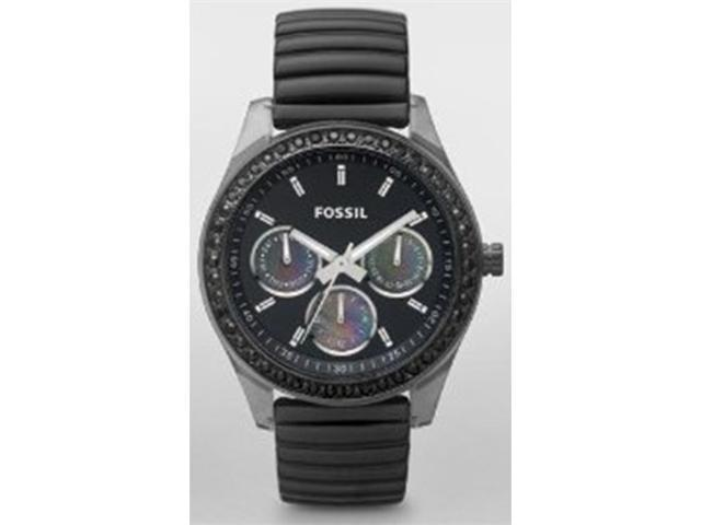Fossil Men's ES2954 Black Stainless-Steel Analog Quartz Watch with Black Dial