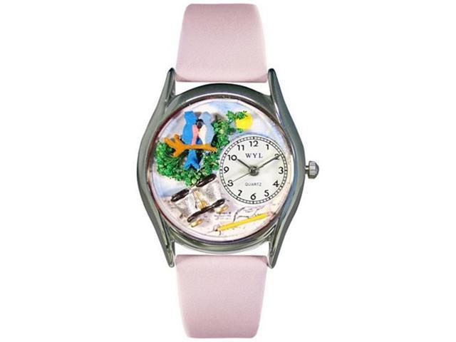 Bird Watching Yellow Leather And Silvertone Watch #S0150012