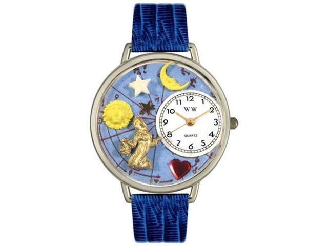 Virgo Royal Blue Leather And Silvertone Watch #U1810002