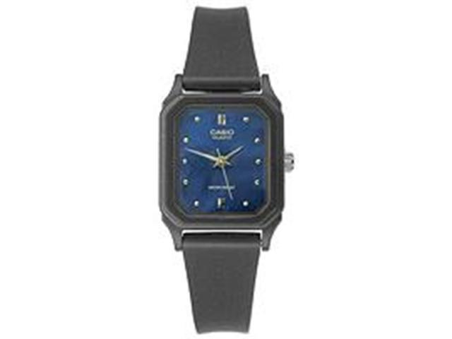 Casio Women's LQ142E-2A Black Resin Quartz Watch with Blue Dial