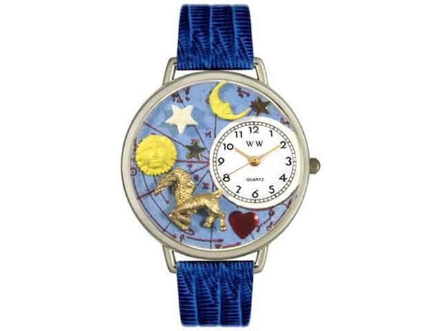 Capricorn Royal Blue Leather And Silvertone Watch #U1810005