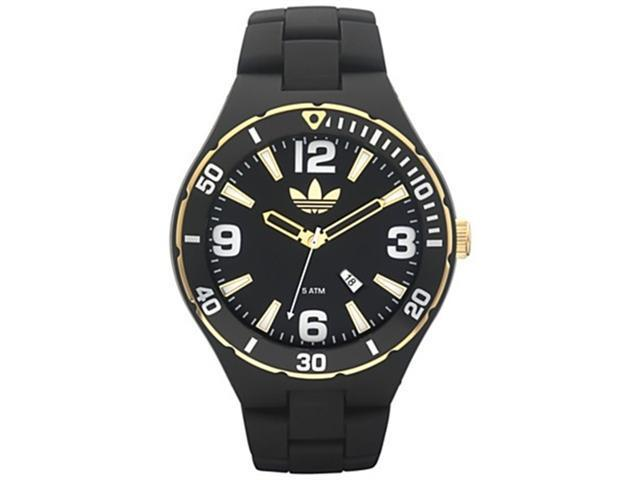 Adidas Men's ADH2605 Black Plastic Quartz Watch with Black Dial