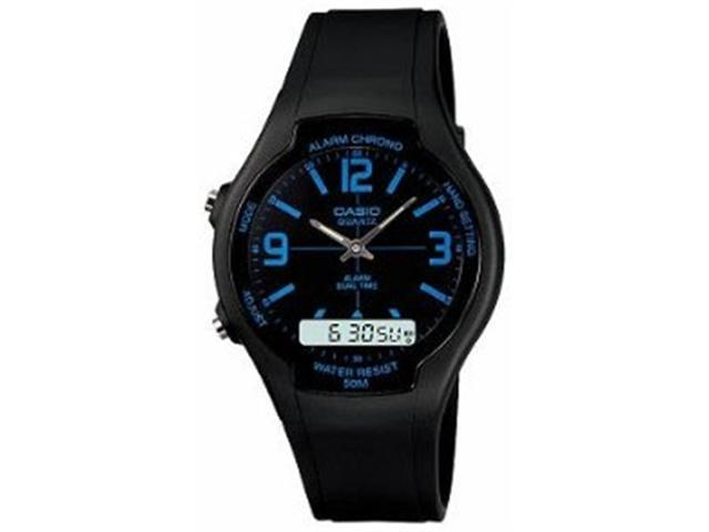 Casio Men's AW90H-2BV Black Resin Quartz Watch with Black Dial