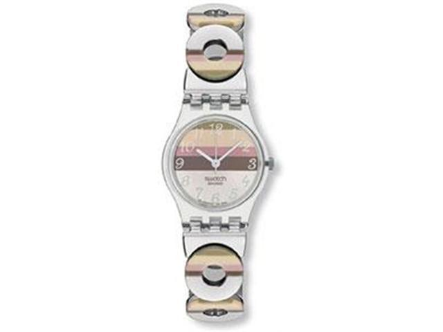Swatch Metallic Dune Multicolor Stainless Steel w/ Resin Ladies Watch LK258G