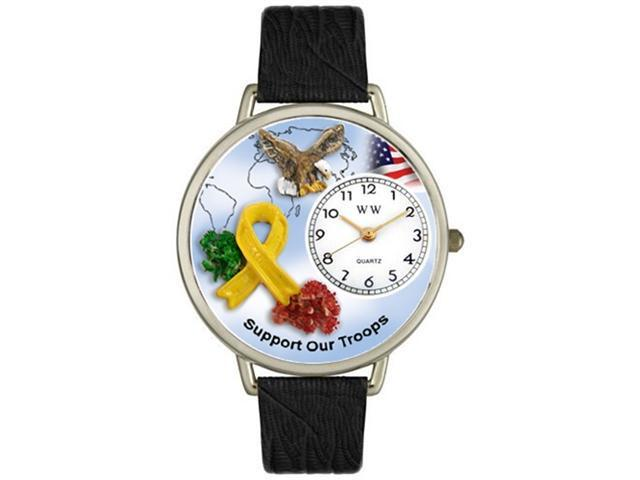 Support Our Troops Tan Leather And Silvertone Watch #U1110005
