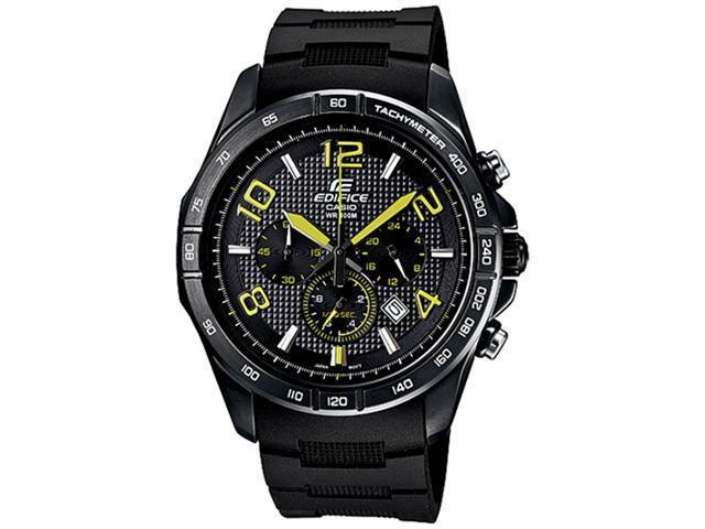 Casio Men's EFR516PB-1A3V Black Resin Quartz Watch with Black Dial