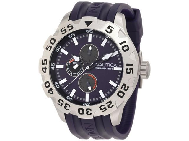 Nautica Men's N15606G Purple Resin Quartz Watch with Purple Dial