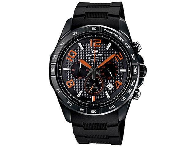 Casio Men's EFR516PB-1A4V Black Resin Quartz Watch with Black Dial