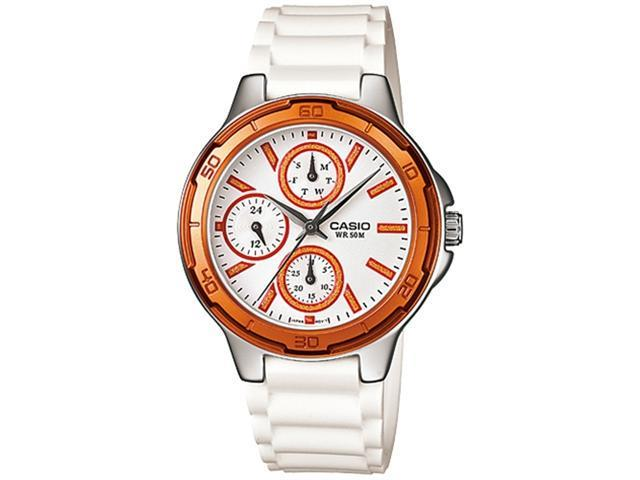 Casio Women's LTP1326-4A2V White Resin Quartz Watch with White Dial