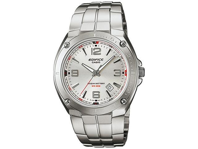 Casio Men's EF126D-7AV Silver Stainless-Steel Quartz Watch with Silver Dial
