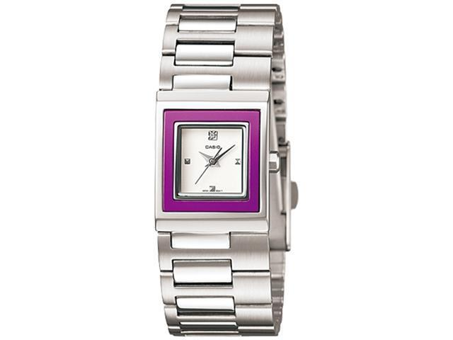 Casio Women's LTP1317D-6C Silver Stainless-Steel Quartz Watch with White Dial