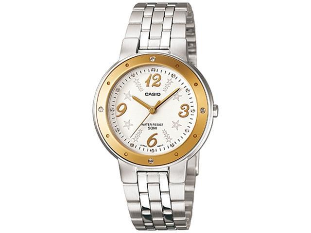 Casio Women's LTP1318D-9AV Silver Stainless-Steel Quartz Watch with White Dial