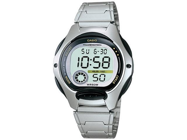Casio Men's LW200D-1AV Silver Stainless-Steel Quartz Watch with Grey Dial