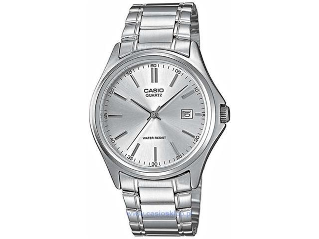 Casio Women's MTP1183A-7A Silver Stainless-Steel Quartz Watch with Silver Dial