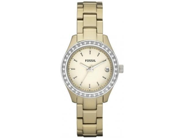 Fossil Women's ES2962 Gold Stainless-Steel Quartz Watch with Gold Dial