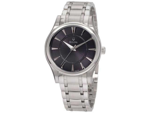 Bulova Steel Bracelet Black Dial Men's watch #96A126