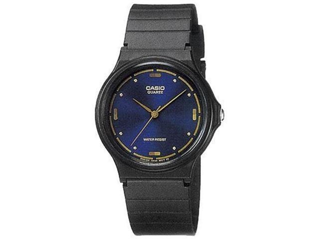 Casio Men's MQ76-2A Black Resin Quartz Watch with Blue Dial