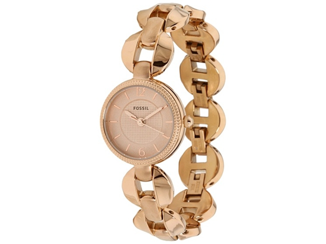 Fossil Women's ES3011 Pink Stainless-Steel Quartz Watch with Pink Dial