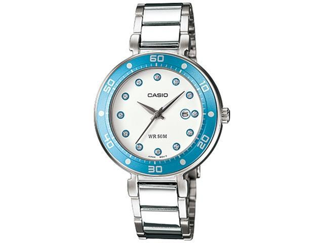 Casio Women's LTP1329D-2EV White Stainless-Steel Quartz Watch with White Dial