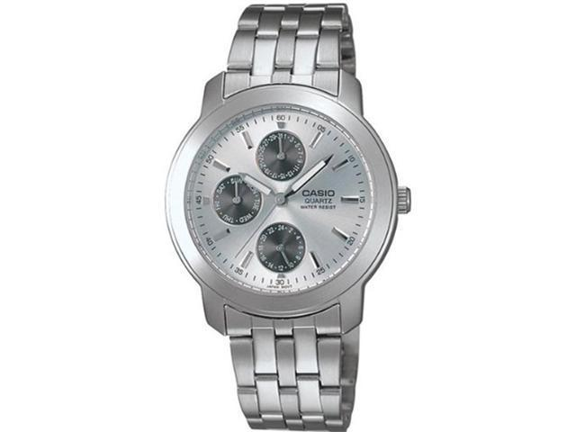 Casio Men's MTP1192A-7A Silver Stainless-Steel Quartz Watch with Silver Dial