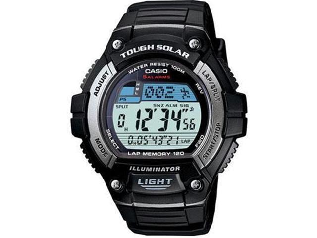Casio Men's WS220-1AV Black Resin Quartz Watch with Digital Dial
