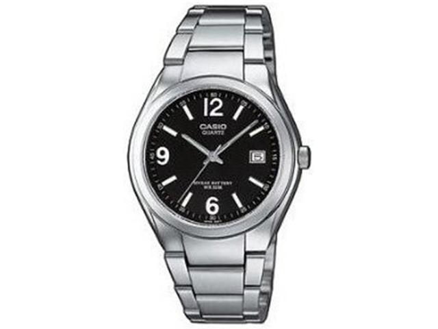 Casio Men's MTP1265D-1AV Silver Stainless-Steel Quartz Watch with Black Dial